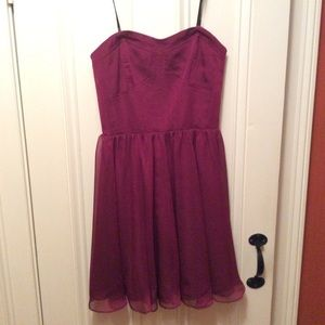 Guess strapless mini dress with tulle skirt EUC